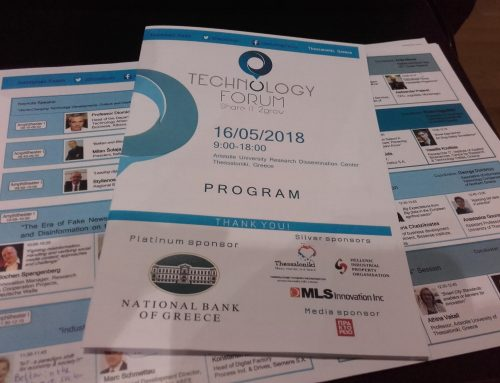 Presentation at Technology Forum 2018 in Thessaloniki, Greece
